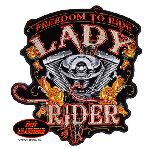 Hot Leathers, FREEDOM TO RIDE LADY RIDER, With - Lady Rider Motorcycle Shirts
