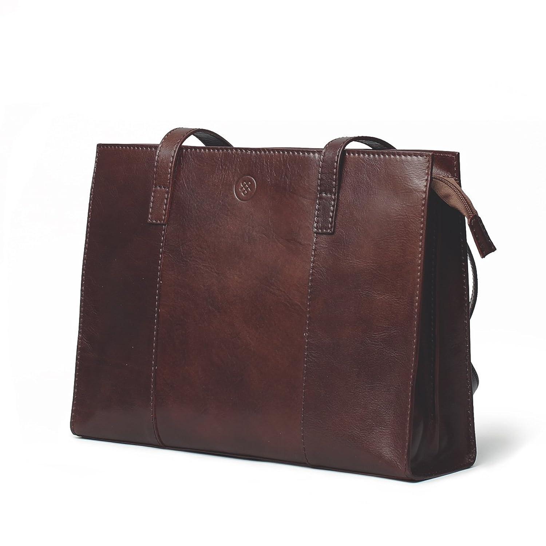 Maxwell Scott? Luxury Leather Business Shoulder Purse (Scala)
