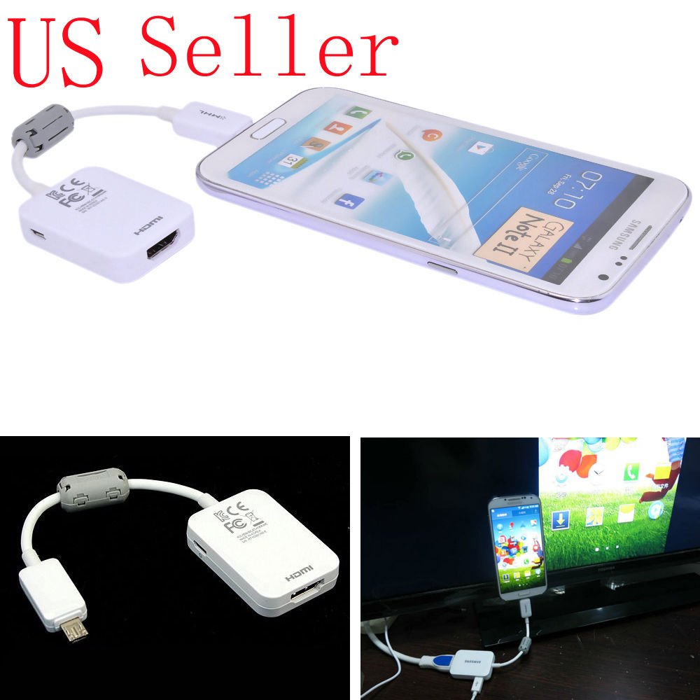 FYL Micro USB MHL to HDMI 1080P HD TV Cable Adapter For Samsung Galaxy Tab 3 10.1