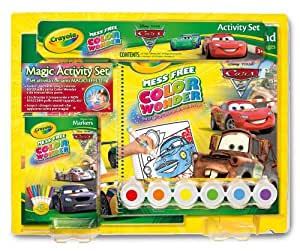 Amazon Com Crayola Color Wonder Cars 2 Gift Set Toys Amp Games