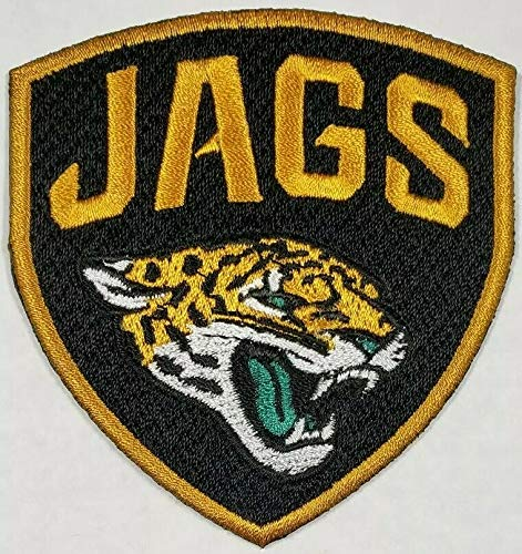 Jacksonville Jaguars NFL Embroidered Iron On Logo Patch 3 x 3.15 inches