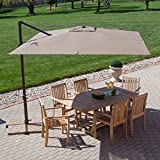 Cheap Treasure Garden 8.5-ft. Square Offset Patio Umbrella