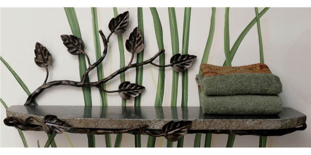 Aspen Wall Shelf (Oil Rubbed Bronze) by Quiescence Iron & Stone