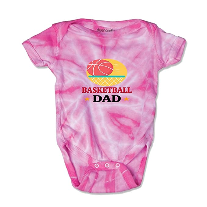 Cute Rascals Basketball Dad Baby Combed Ring-Spun Cotton Tie Dye Jersey  Bodysuit One Piece aeaa7199d
