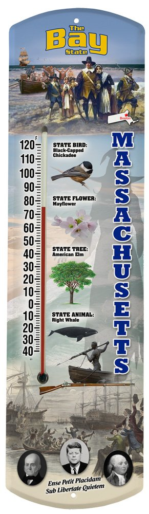 Heritage America by MORCO 375MA Massachusetts Outdoor or Indoor Thermometer, 20-Inch