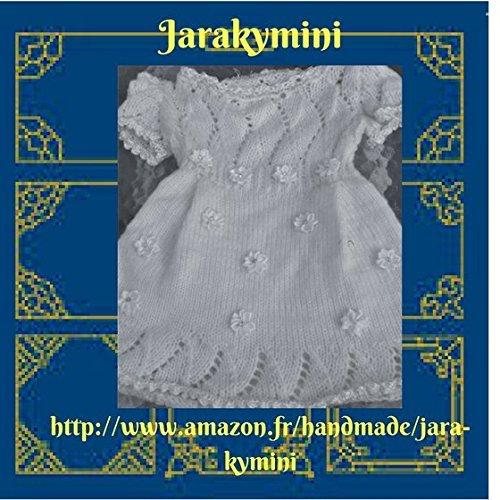 Robe de baptême bébés filles fait-main tricotée aux aiguilles; robe blanche bébés , layette fait main petit prix, /handmade/jara-kymini