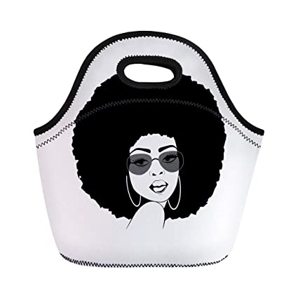 d2588a779661 Amazon.com: Semtomn Lunch Tote Bag Brown Portrait of Beautiful ...