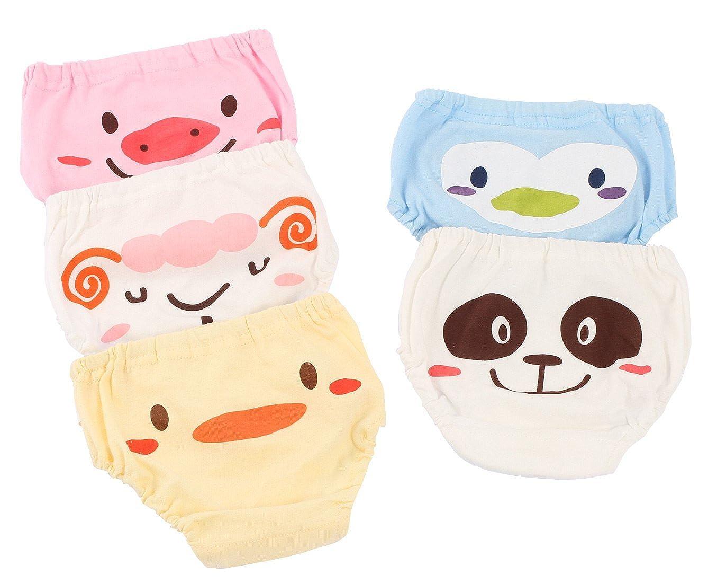 Joyo roy Unisex Baby Potty Training Undies Cotton Cartoon Diaper Pants Pack of 5