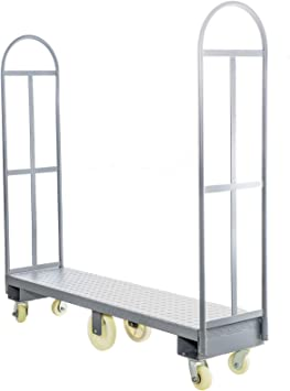 Amazon Com Bestequip U Boat Cart 51 L X 16 W X 56 H U Boat Truck 2000lbs Capacity U Boat Cart Steel With Removable Handles Deck And 6 Wheels U Boat Platform Truck Dolly For Transporting Equipment Home Improvement