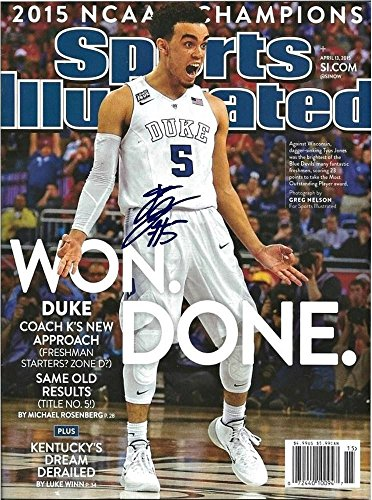 Tyus Jones Autographed Signed Sports Illustrated Magazine 16x20 Photo - Authentic Signature