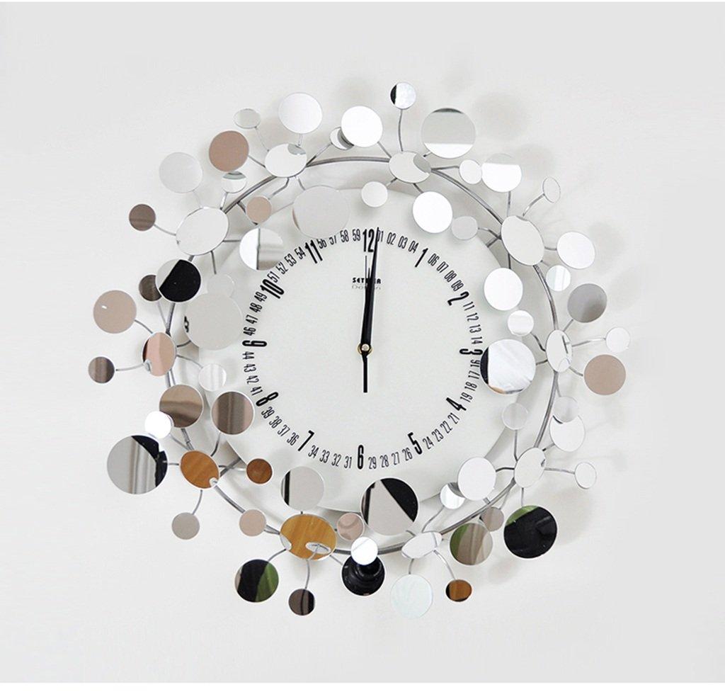GRJH® ファッション装飾的な壁時計、アイアン創造的なモデリングの腕時計、フルスターアートウォールクロック50x50cm クリエイティブファッションシンプル B07CN697LZ