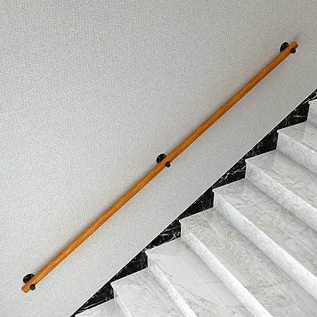 Antideslizante Barandillas de escalera de madera antideslizantes 丨 Barandilla para escaleras Pasos exteriores al aire libre Ático, escaleras, pasillo 丨 Montaje en pared estable Fácil de instalar: Amazon.es: Hogar