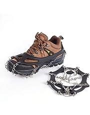 Suntapower Strap Type Steigeisen, 18 Zähne Claws Multi-Funktions-Anti-Rutsch-EIS Cleat Steigeisen mit Edelstahl-Kette für EIS Spikes Wandern Camping Moutaineering