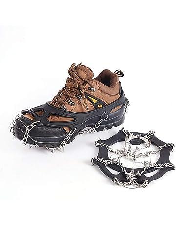 Perfetto per Picco di Ghiaccio Escursionismo Camping Moutaineering Ice Tacchetti Donna e Uomo Resistente Spikes Neve Ramponi portabile con Ottimo Grip AGPTEK Ramponi da Ghiaccio a 19 Denti