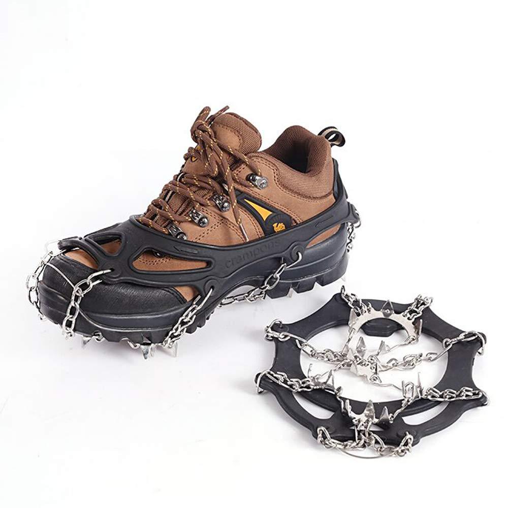 Suntapower Griffes à Crampon avec 18 Dents en Acier Inoxydable, pour la Marche, Randonnée, Alpinisme en Hiver etc