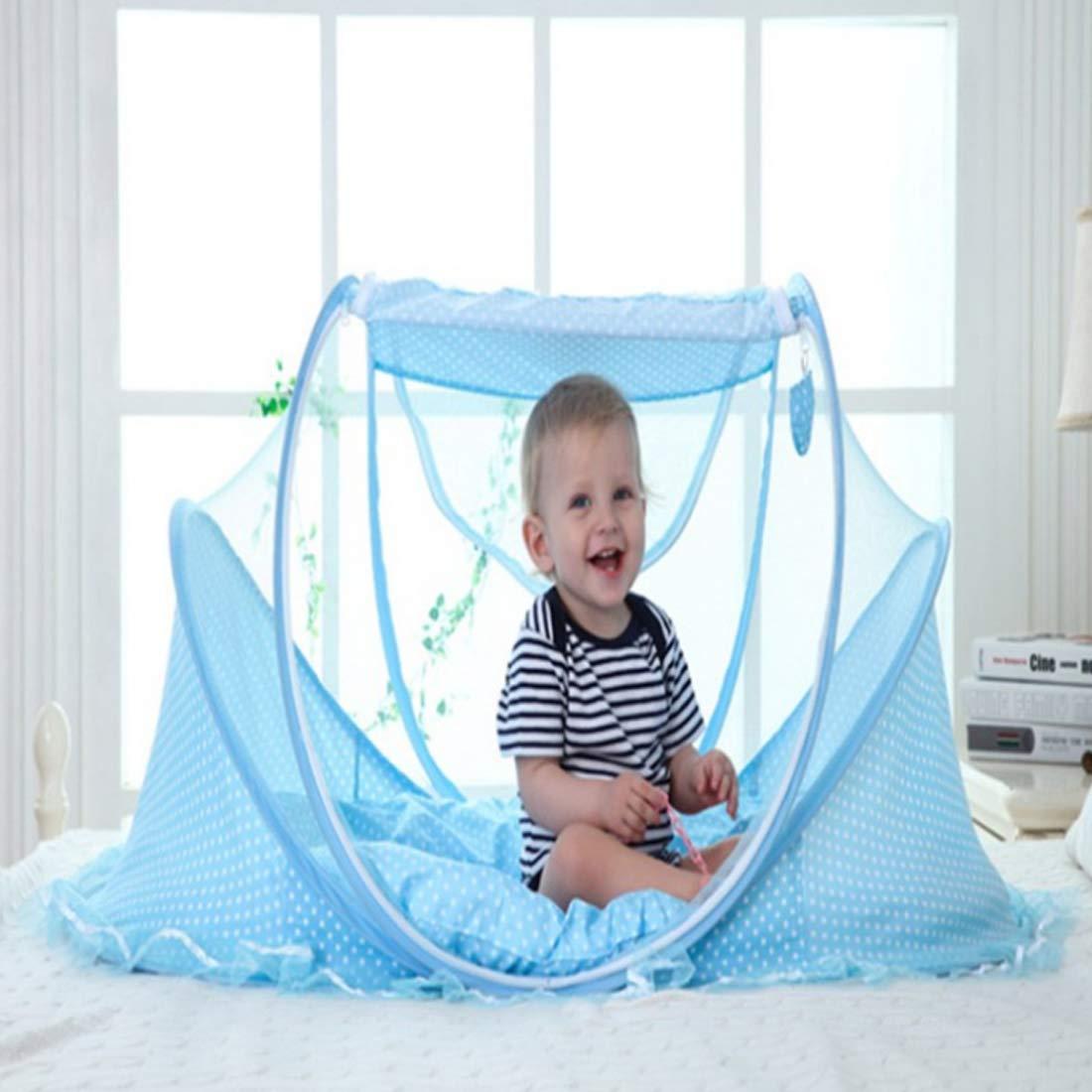 Pop Up Babybett TETAKE Reisebett Baby Faltbar Schlafkorb Baby mit Moskitonetz und Matratze f/ür 0-3 Jahre Baby Sommer Moskitonetz f/ür Kinder 110 * 65 * 60cm