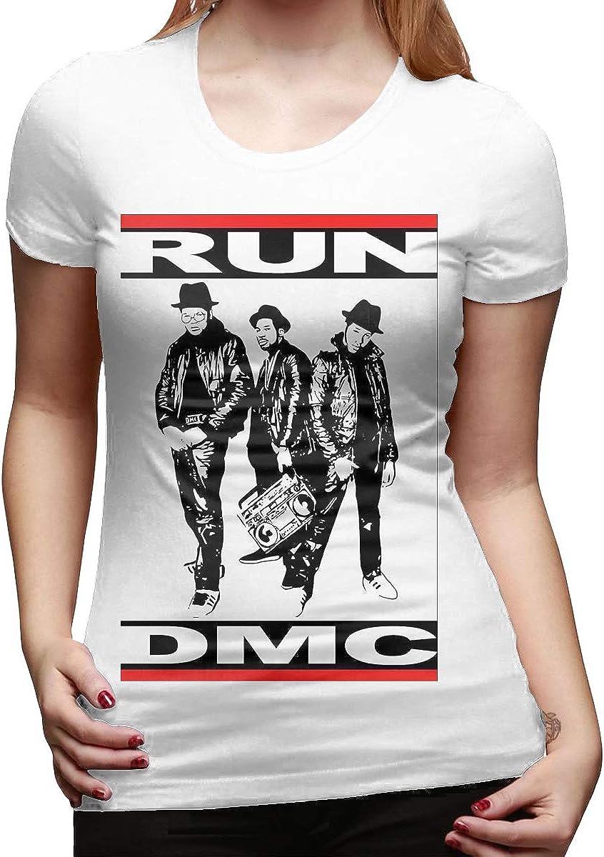 MonicaRDalton Run Dmc Women Loose Short Sleeve Tshirts