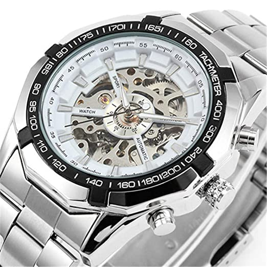 PIJSOADM Relojes para Hombre Luxury Winner Auto Men Watch Top Luxury Fashion Clock Machinery Watch Men: Amazon.es: Relojes