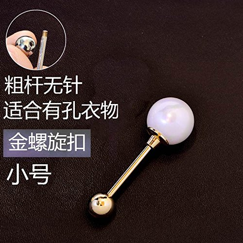 Spiral pearl brooch women girls corsage pins word cardigan sweater shawl pin buckle clasp Accessories 1101 pintle large -