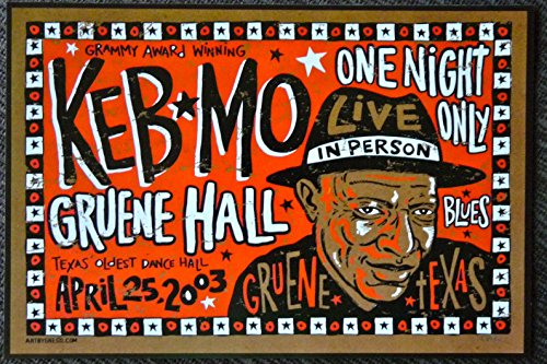 keb-mo-live-at-gruene-hall-texas-rare-tour-advertising-poster