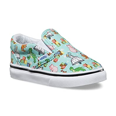 Amazon Com Vans Infant Toddler Shoes Classic Slip On Disney Pixar