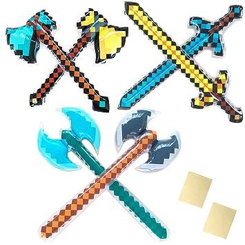 Hacha de espadas de pixel para jugar a la pirata con forma de ...
