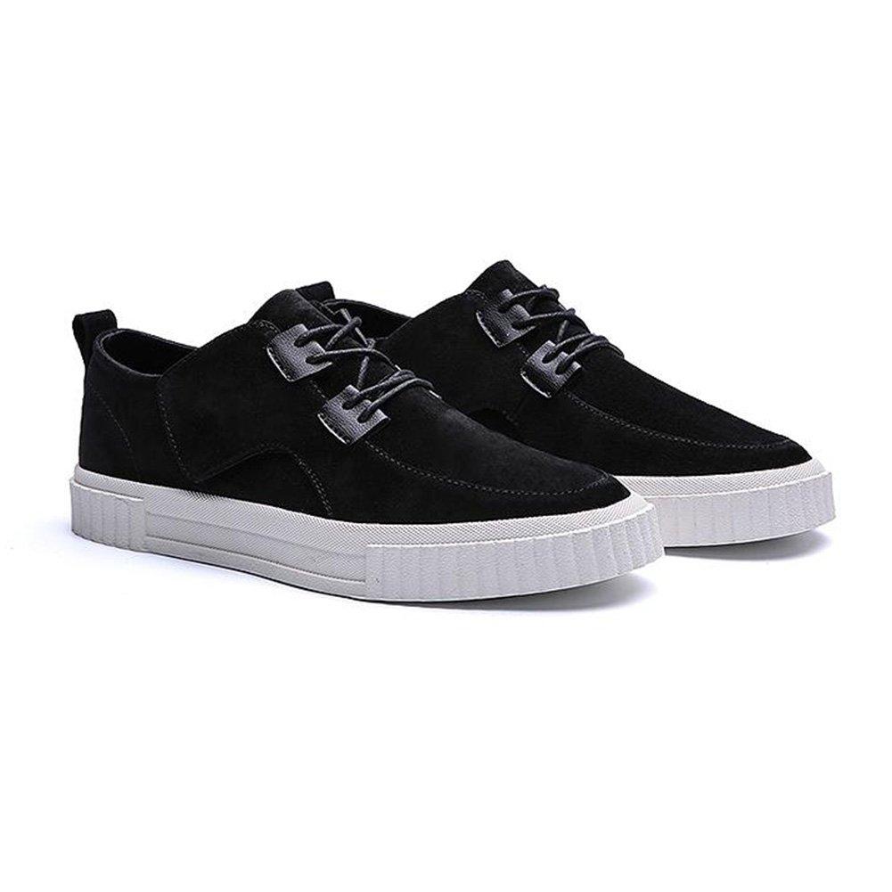 YIXINY Deporte Zapato DP06 Zapatos Casuales Hombre Inglaterra Estudiante Transpirable Zapatos Con Cordones Zapatos De Lona Zapatos Planos 3 Colores ( Color : Negro , Tamaño : EU39/UK6.5/CN40 ) EU39/UK6.5/CN40|Negro
