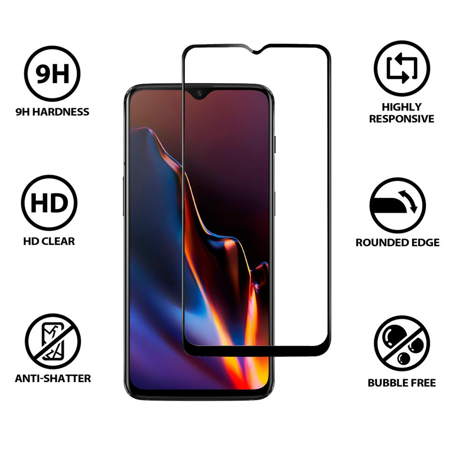 Tempered glass for OnePlus 6T