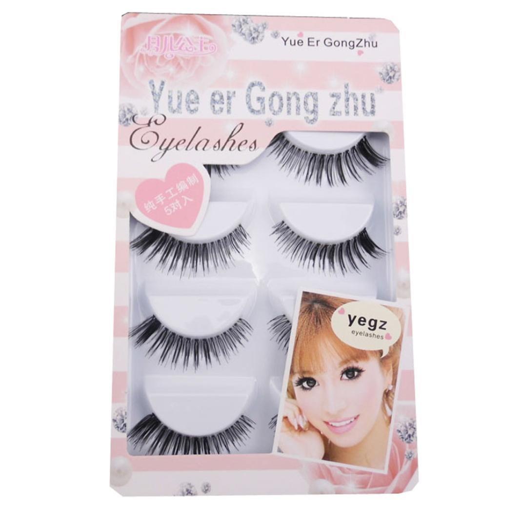 Eyelashes,YJM New 5 Pair Thick Crisscross Long False Eyelashes Fake Eye Lashes Voluminous Makeup