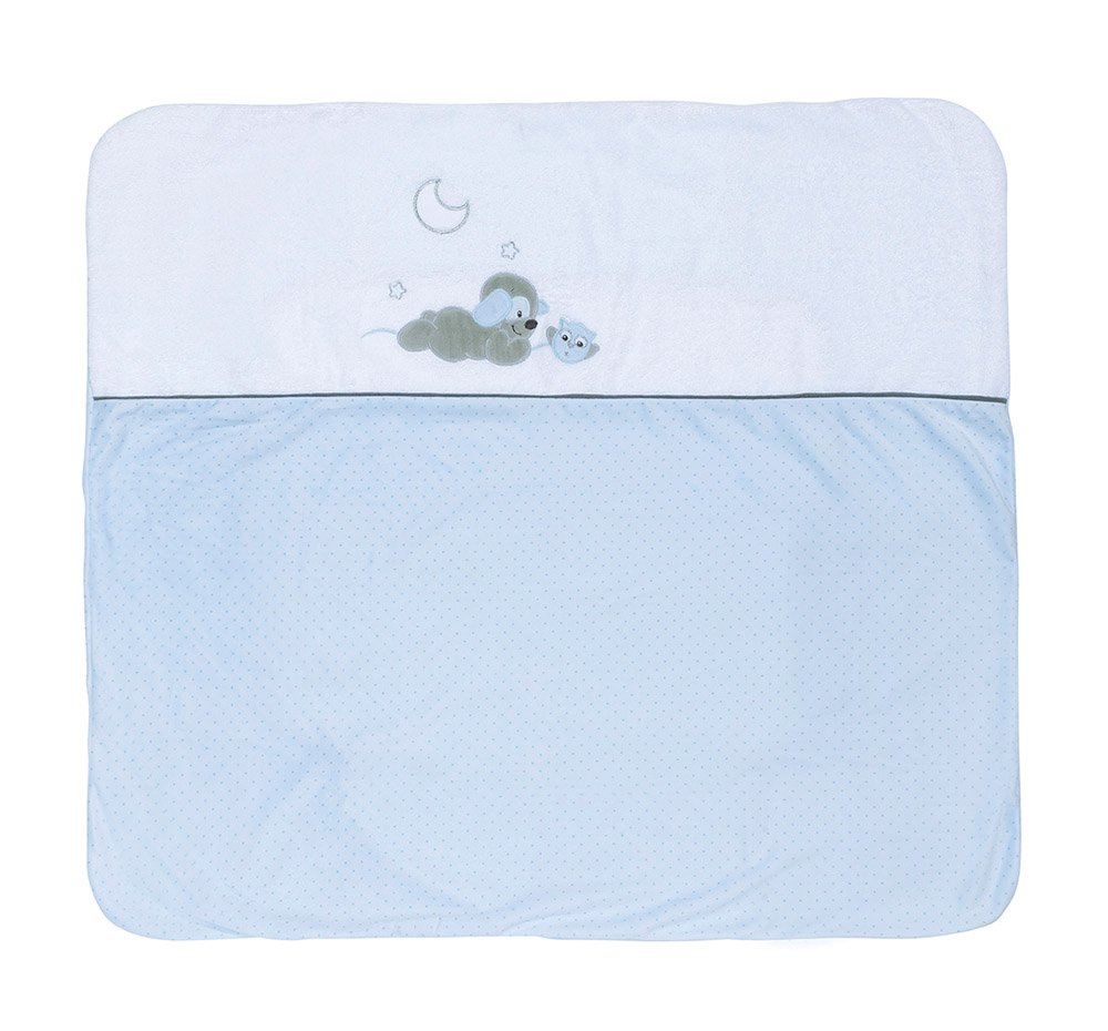 Nattou 604499 Bezug zu Wickelauflage 88 x 78 cm, blau