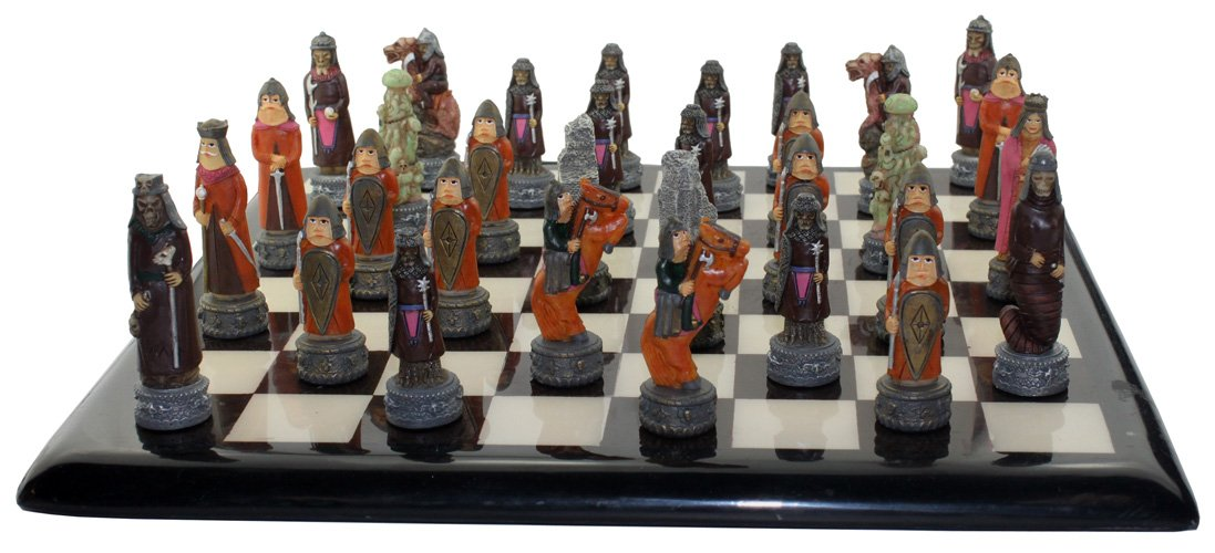 The Chessmen Battle of Troy Chess Pieces
