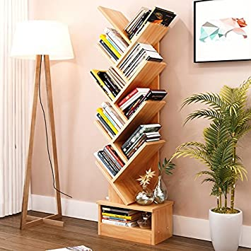 Magshion Tree Bookshelf Compact Book Rack Bookcase Display Storage  Furniture for CDs, Movies & Books