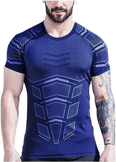 Luckycat Hombres Deportes Camisa Deportiva Camiseta Sport tee Shirt T-Shirt Camiseta de equipación de Manga Corta para Hombre Hombre, Running, Atletismo, y Deportes en General.: Amazon.es: Ropa y accesorios