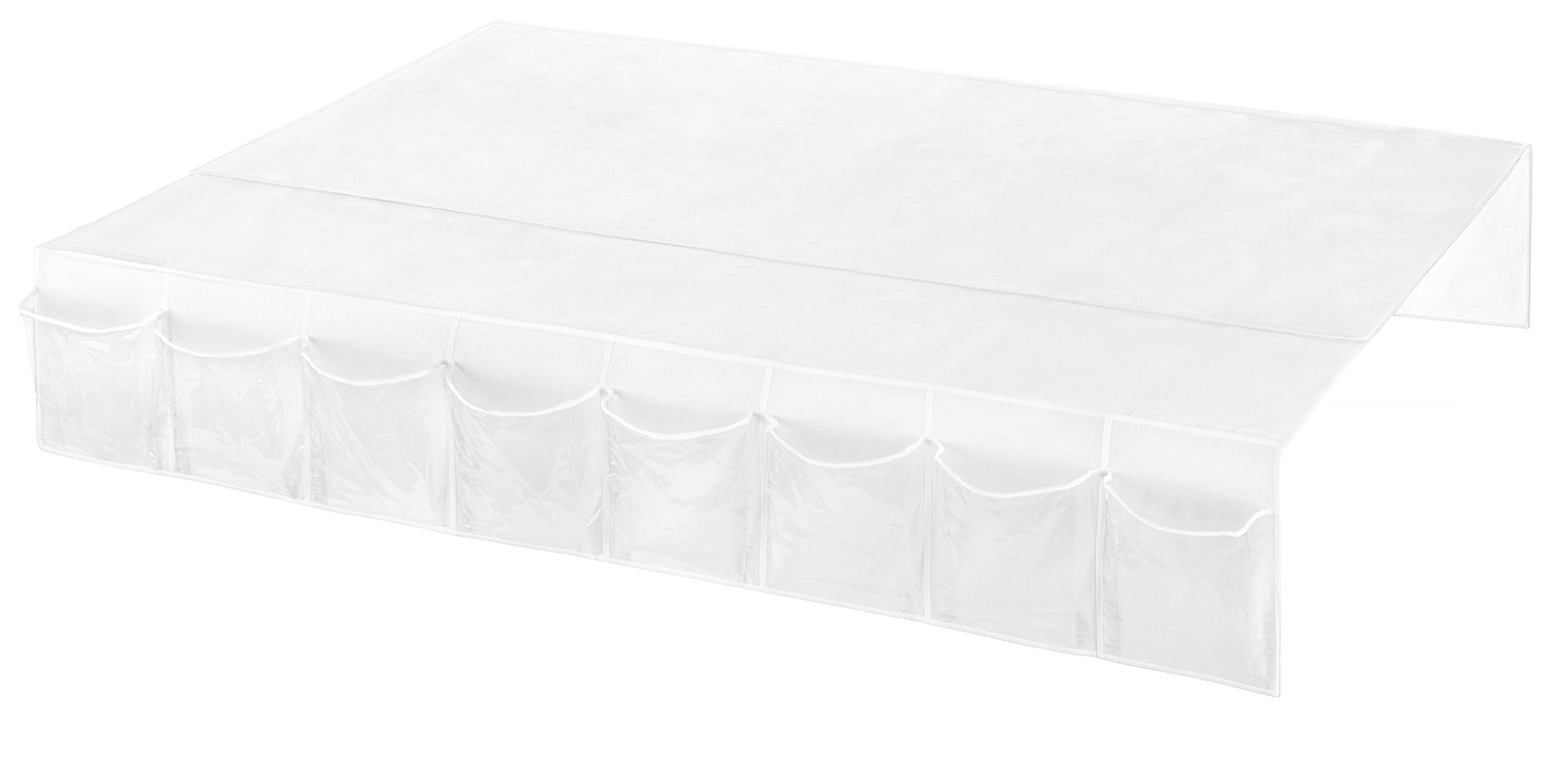 Whitmor Bedskirt Storage Organizer Clear