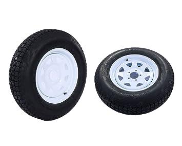 Amazon.com: 2 neumáticos y llantas para remolque de 15 ...