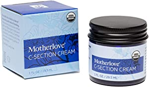 Motherlove C-Section Cream (1oz) Organic Herbal Salve to Soothe Discomfort from Cesarean Birth Incisions While Minimizing Appearance & Reduce Scar Tissue Build-up—USDA Organic, Non-GMO, Cruelty-Free