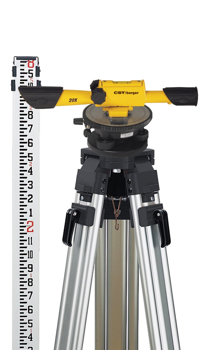 CST/berger 54-190K Speed Line 20X Transit Level Package with Horizontal Circle, Tripod, Rod, and Carrying Case