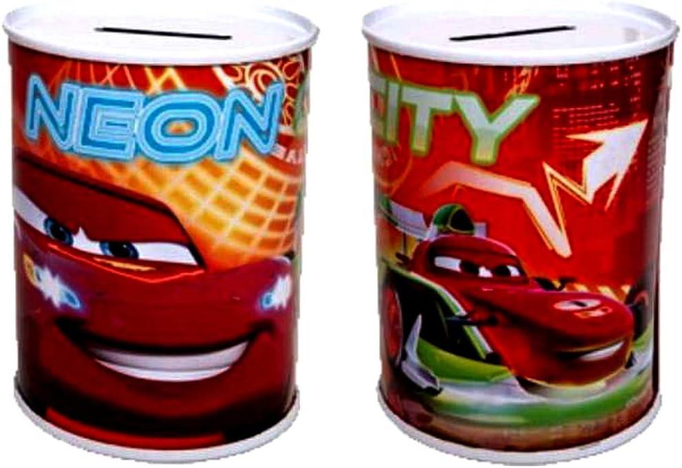 Dekora Grande Tirelire Enfant de Cars Flash Mcqueen avec Billets en Azyme 204012 Rouge