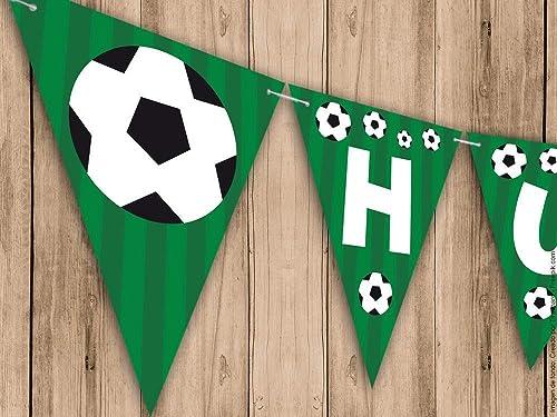 Guirnalda Mi Primera Comunión, Bautizo o Cumpleaños fútbol. Guirnalda decorativa. Banderines para fiestas.: Amazon.es: Handmade