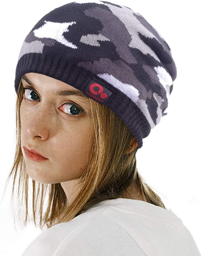 Camouflage Army Purple Unisex Stylish Serious Style Beanie Hat Skull Ski Hats
