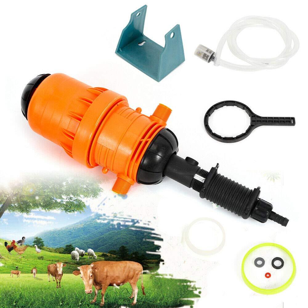 DiLiBee D/ünger-Injektor-Dispenser D/ünger-Injektor-Zufuhr-Proportion-Selbstdosierungs-Ger/ät 0,4/% 4/% Skala-Strecke 4℃-30℃