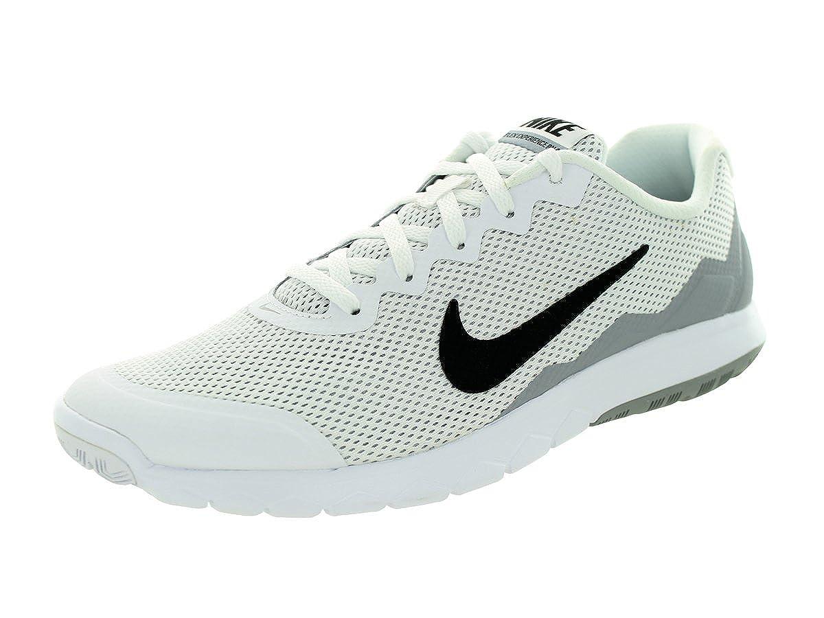 premium selection 8db24 5628c Amazon.com   Nike Men s Flex Experience RN 4 (White   Black   Wolf Grey) Running  Shoe, 10.5 D(M) US   Road Running