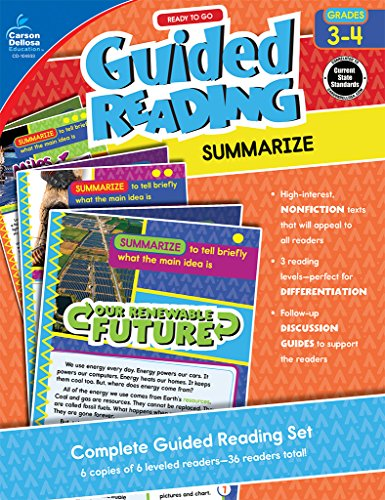 Ready to Go Guided Reading: Summarize, Grades 3 - 4