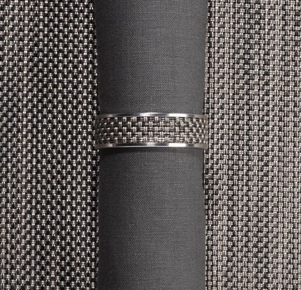 Chilewich Gray Basketweave Napkin Ring