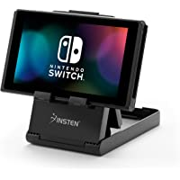 Insten Stand Compact Playstand with Charging Port Access for Nintendo Switch, Universal Foldable Phone Tablet Stand [Multi-Angle] for Nintendo Switch, iPhone 7/7 Plu/iPad/Galaxy S10/S10 Plus/S10e/S9