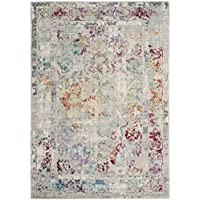 Safavieh Mystique Collection MYS923R Vintage Watercolor Grey and Multi Distressed Area Rug (5 x 8)