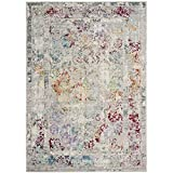 Safavieh Mystique Collection MYS923R Vintage Watercolor Grey and Multi Distressed Area Rug (8′ x 10′) Review