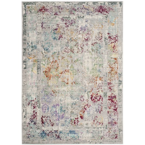 Safavieh Mystique Collection MYS923R Vintage Watercolor Grey and Multi Distressed Area Rug (8' x 10')