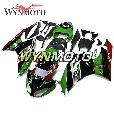 Amazon.com: WYNMOTO Green Red White Full Fairings For ...