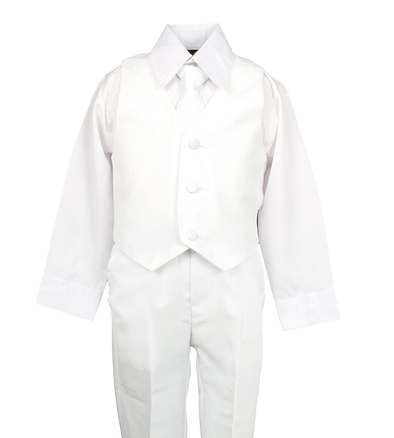 Amazon.com: Spring Notion Baby Boys\' Formal White Dress Suit Set ...